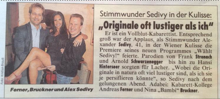 Kronenzeitung Adabei v. 10.10.2013