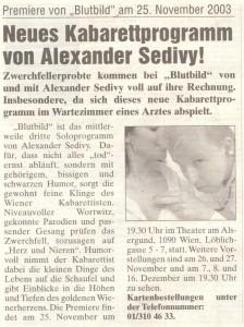 Bezirksjournal November 2003
