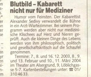 Kronenzeitung Dezember 2003