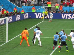 Strafraumszene England Uruguay