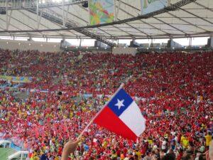 Chilenische Fans im Maracana